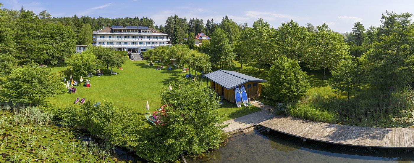 Hotel mit Strand am Klopeiner See