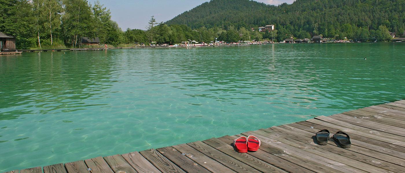 BLick auf den Klopeiner See